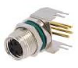 Konektor M8 zásuvka PIN:4 zásuvka 4A 30V IP68 kov