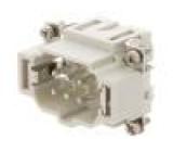 Konektor: hranatý vidlice S-EP PIN:6 6+PE velikost 6B push-in