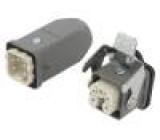 Konektor: hranatý vidlice + zásuvka S-A PIN:5 4+PE přímý kov