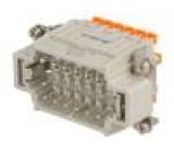 Konektor: hranatý vidlice CDSH PIN:18 18+PE velikost 57.27