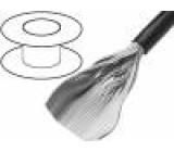 Vodič: plochý kabel kulatý 1,27mm licna Cu 64x28AWG PVC šedá