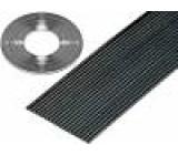 Vodič: plochý kabel 1,27mm licna Cu 40x28AWG PVC černá 30,5m