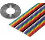 Vodič: plochý kabel 1,27mm licna Cu 10x28AWG PVC 49V 30,5m