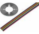 Vodič: plochý kabel licna Cu 10x0,22mm2 PVC 300V 50m