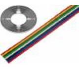 Vodič: plochý kabel licna Cu 8x0,5mm2 PVC 500V 50m