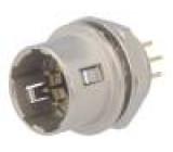 Zásuvka Konektor kulatý HR10 vidlice PIN:6 push-pull zlacený