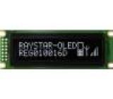 Zobrazovač: OLED grafický 100x16 Rozměry okénka:66x16mm bilá