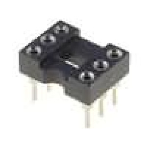 Patice DIP 6 PIN7,62mm zlacený dvýv:0,5mm 1A THT -55-85°C