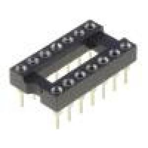 Patice DIP 14 PIN 7,62mm zlacený dvýv:0,5mm 1A THT -55-85°C