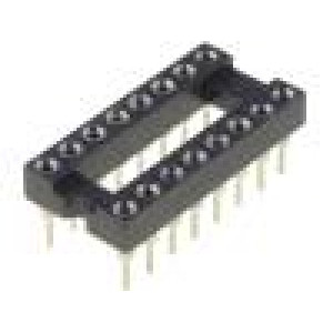 Patice DIP 16 PIN 7,62mm zlacený dvýv:0,5mm 1A THT -55-85°C