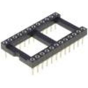 Patice DIP 24 PIN 15,24mm zlacený dvýv:0,5mm 1A THT -55-85°C