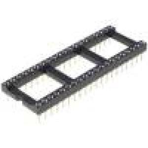 Patice DIP 40 PIN 15,24mm zlacený dvýv:0,5mm 1A THT -55-85°C