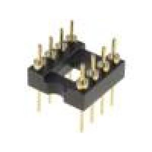 Patice DIP 8 PIN 7,62mm zlacený UL94V-0 THT rozteč 2,54mm