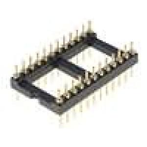 Patice DIP 24 PIN 15,24mm zlacený UL94V-0 THT rozteč 2,54mm