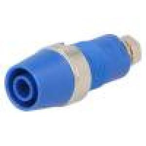 Zásuvka banánek 4mm 32A 1kVDC modrá Montáž přišroubováním