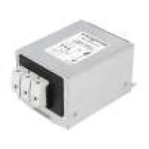 Filtr odrušovací třífázový 480VAC 10A 61x75x48mm na DIN lištu