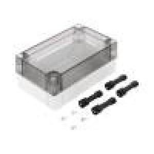 Krabička univerzální MNX X:80mm Y:130mm Z:50mm polykarbonát šedá
