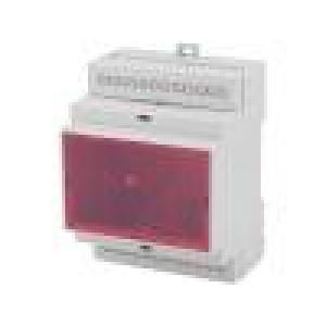Kryt na přípojnici DIN X:71mm Y:9,2mm Z:57,7mm ABS šedá