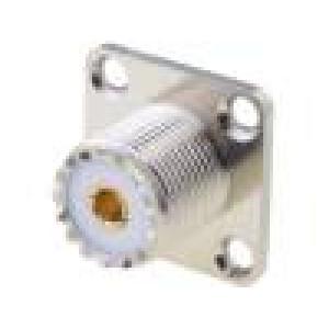 Zásuvka UHF (PL259) zásuvka přímý pájení teflon 18x18mm