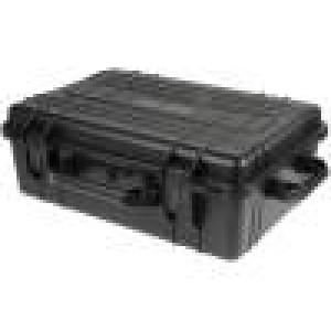 Zásobník - přepravní kufřík 580x400x210mm černá ABS