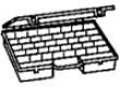 Zásobník - krabička s přihrádkami 462x375x72mm