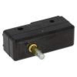 Mikrospínač s trnem SPDT 15A/250VAC ON-(ON) 1-polohové IP40