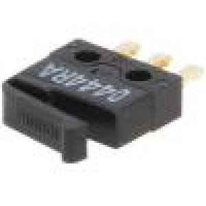 Mikrospínač s páčkou SPDT 0,05A/30VDC ON-(ON) 1-polohové
