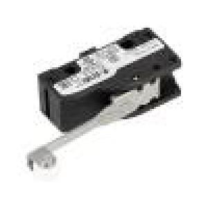 Mikrospínač s páčkou (s kladkou) SPDT 6A/250VAC 5A/24VDC