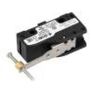 Mikrospínač s páčkou, s trnem SPDT 6A/250VAC 5A/24VDC ON-(ON)
