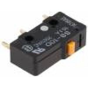 Mikrospínač bez páčky SPDT 10A/250VAC ON-(ON) 1-polohové