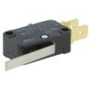 Mikrospínač s páčkou SPDT 10A/250VAC 0,6A/125VDC ON-(ON)