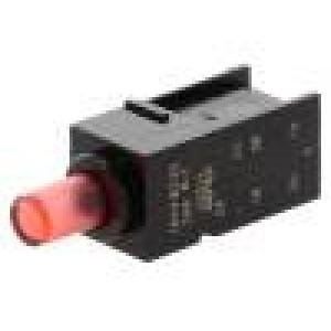 Mikrospínač 1-polohové DPDT 0,5A/60VDC THT LED červená 8N