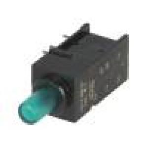 Mikrospínač 1-polohové DPDT 0,5A/60VDC THT LED   8N