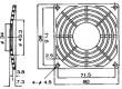 Mřížka 80x80mm Mat plast upevnění šroubem