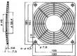Mřížka 120x120mm Mat plast upevnění šroubem