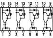 TLP627-4 Optočlen THT Kanály:4 Výst Darlingtonův obvod Uizol:5kV