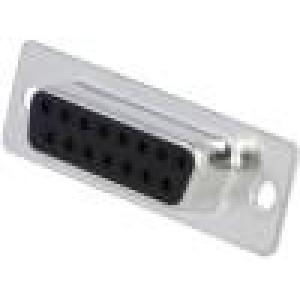Zásuvka D-Sub 15 PIN zásuvka přímý THT zlacený