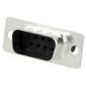 Zástrčka D-Sub 9 PIN vidlice bez kontaktů na kabel 250V