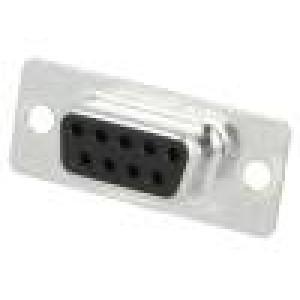 Zástrčka D-Sub 9 PIN zásuvka pájení na kabel gold flash 250V