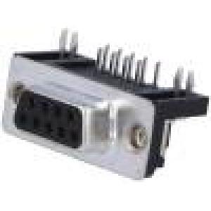 Zásuvka D-Sub 9 PIN zásuvka standard 7,2mm zajištění šroubky