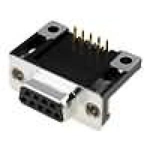Zásuvka D-Sub 9 PIN zásuvka standard 14,1mm úhlové 90° THT