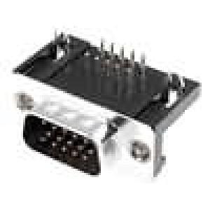 Zásuvka D-Sub HD 15 PIN zásuvka zajištění šroubky úhlové 90°