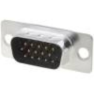 Zásuvka D-Sub HD 15 PIN vidlice přímý THT zlacený