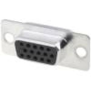 Zástrčka D-Sub HD 15 PIN zásuvka pájení na kabel gold flash