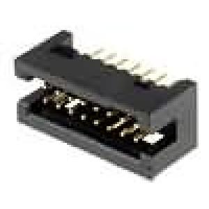 Zásuvka IDC vidlice 16 PIN přímý 1,27mm THT gold flash