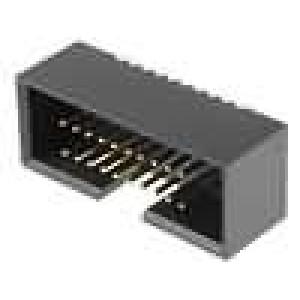 Zásuvka IDC vidlice PIN:20 přímý 1,27mm THT gold flash