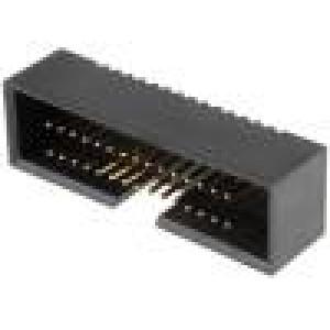 Zásuvka IDC vidlice PIN:30 přímý 1,27mm THT gold flash