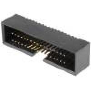 Zásuvka IDC vidlice PIN:34 přímý 1,27mm THT gold flash