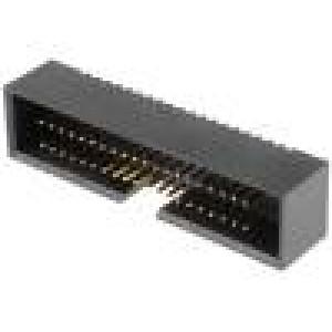 Zásuvka IDC vidlice PIN:40 přímý 1,27mm THT gold flash