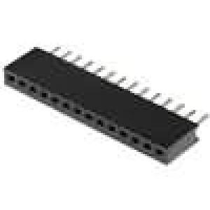 Zásuvka kolíkové zásuvka 14PIN přímý 1,27mm THT 1x14 1A